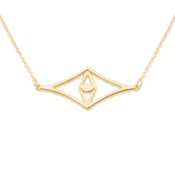 Aperture Eye Choker Jewelry sharon-and-karima 925 Silver Gold Plated