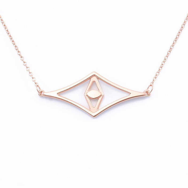 Aperture Eye Choker Jewelry sharon-and-karima 925 Silver Rose Gold Plated