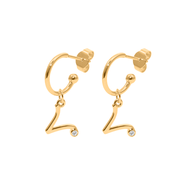 Aries Hoop Jewelry luisa-lion 24ct Gold Vermeil Pair