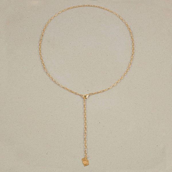 Barring Chain Necklace Petite Camera Charm Jewelry Stilnest 24ct Gold Vermeil Anchor Chain/Ankerkette 50 cm