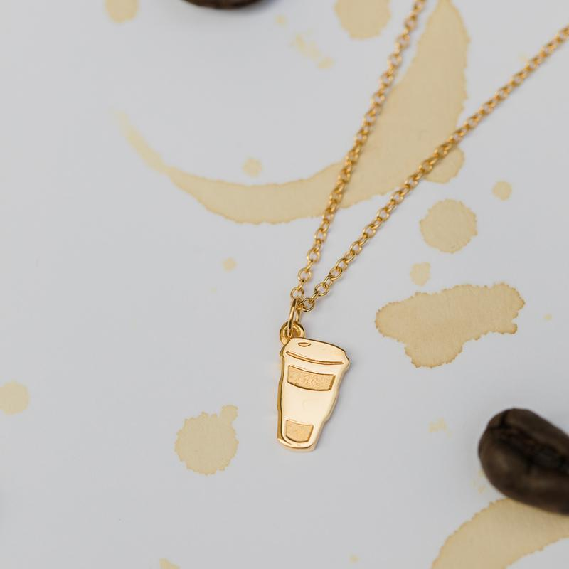 Barring Chain Necklace Petite Coffee Charm Jewelry Stilnest