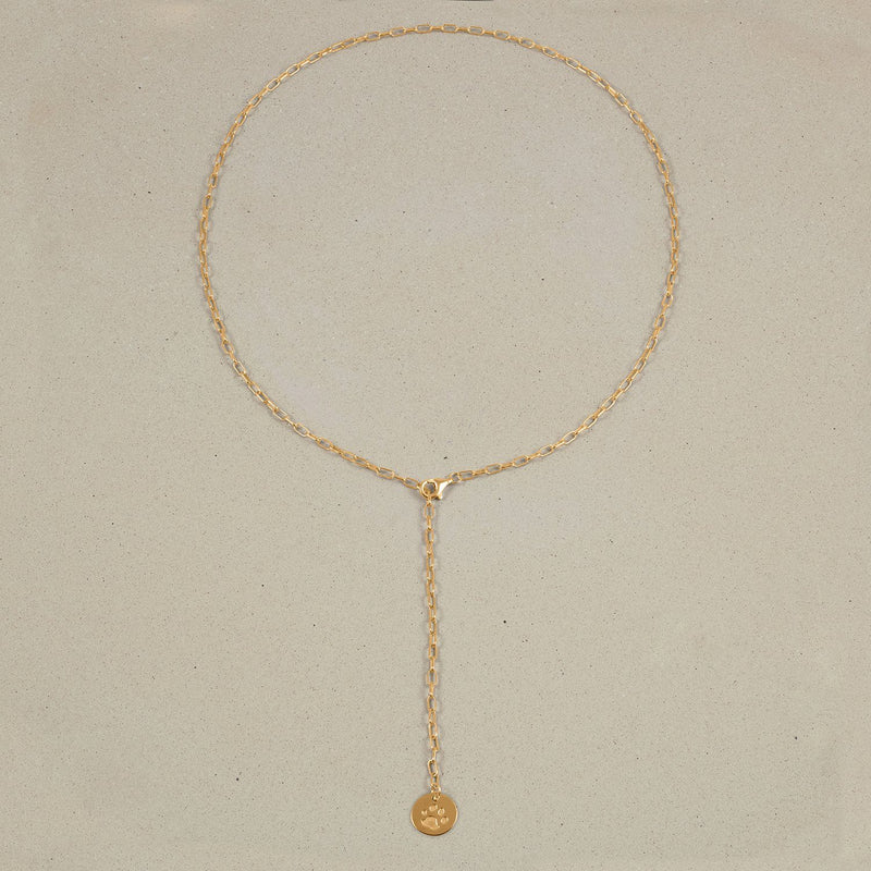 Barring Chain Necklace Petite Paw Charm Jewelry Stilnest 24ct Gold Vermeil Anchor Chain/Ankerkette 50 cm