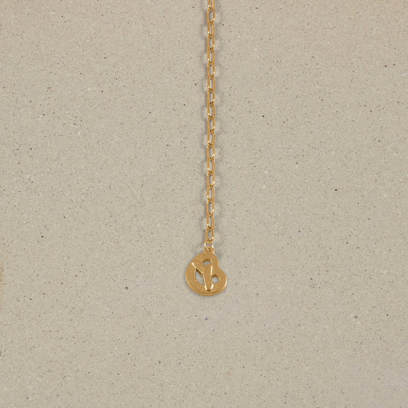 Barring Chain Necklace Petite Pretzel Charm Jewelry Stilnest 24ct Gold Vermeil Anchor Chain/Ankerkette 50 cm