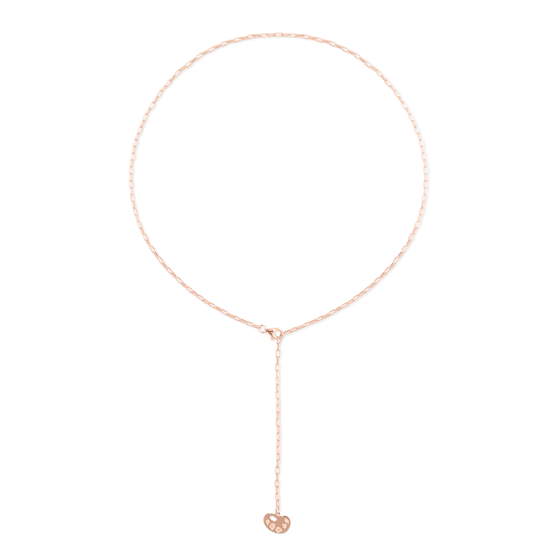 Barring Chain Petite Palette Charm Kette Jewelry frau-hoelle Rose Gold Vermeil 50 cm