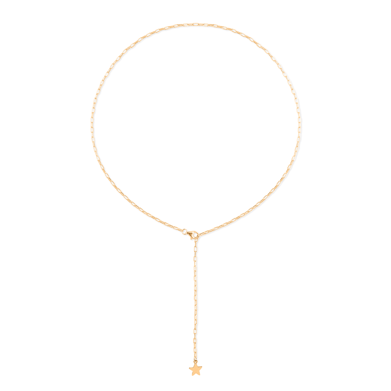 Barring Chain Petite Star Charm Kette Jewelry frau-hoelle 24ct Gold Vermeil 50 cm