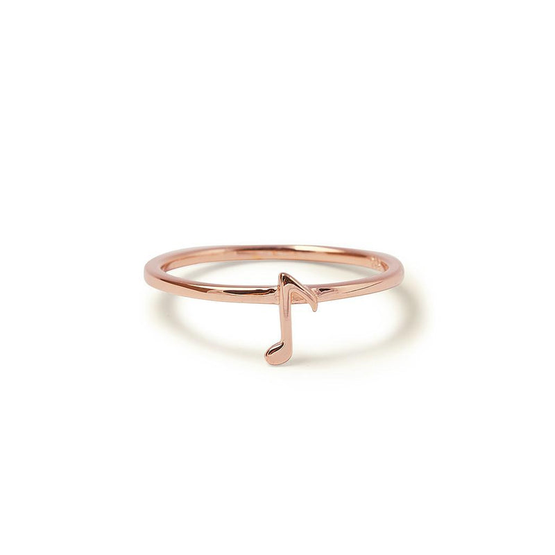 Beat Ring Jewelry kaitlyn-bristowe 925 Silver Rose Gold Plated XS - 49 (15.6mm)