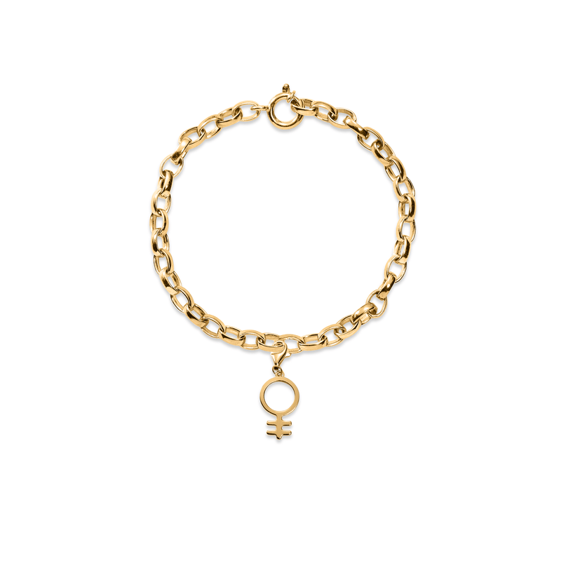 Bei-de Feminism Armband Jewelry adanna-and-david 925 Silver Gold Plated S - 15cm chain length