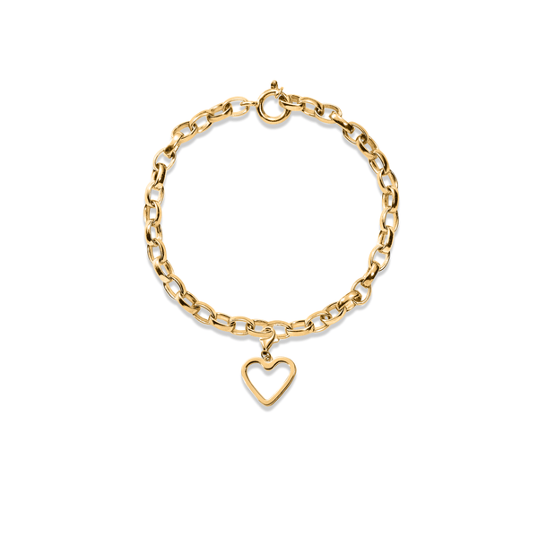 Bei-de Love Armband Jewelry adanna-and-david 925 Silver Gold Plated S - 15cm chain length