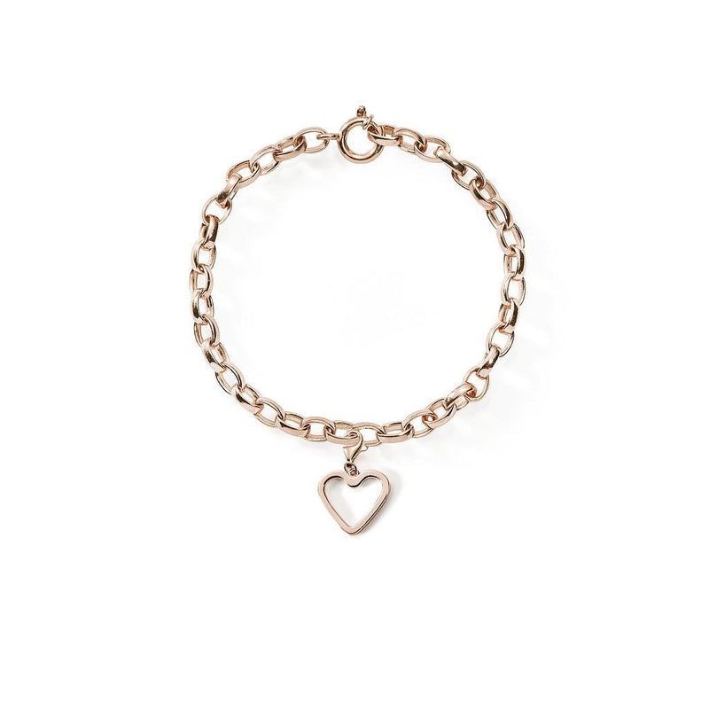 Bei-de Love Armband Jewelry adanna-and-david 925 Silver Rose Gold Plated S - 15cm chain length