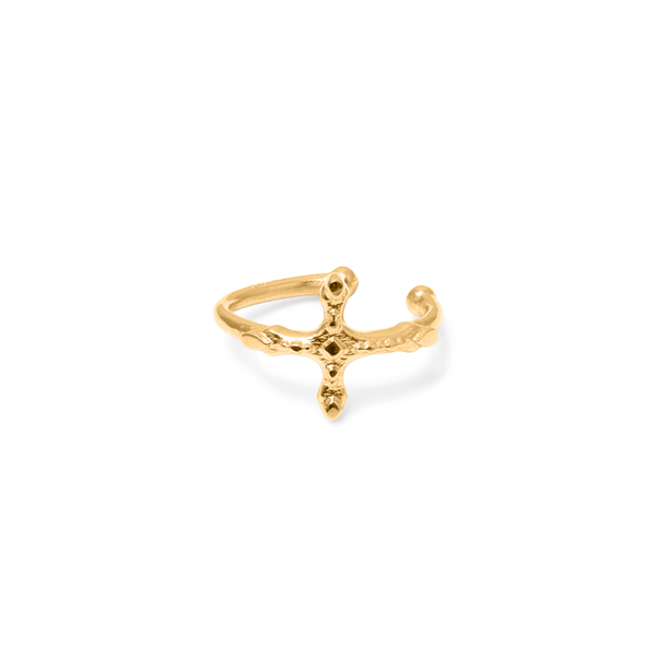 Belief Cross Earcuff Jewelry phiaka 925 Silver Gold Plated