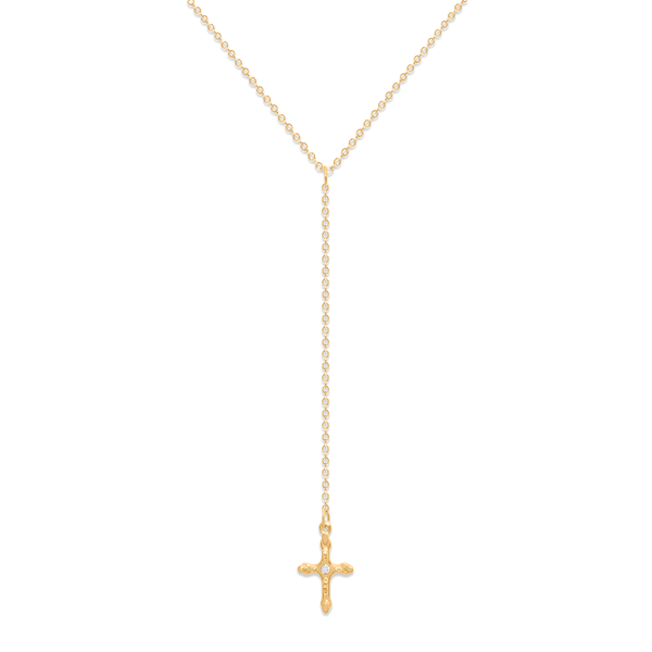 Belief Cross Lariat Jewelry phiaka