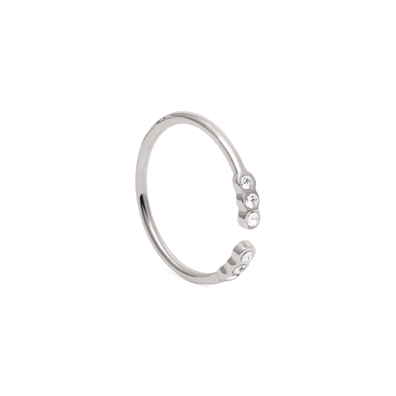 Belief Stackable Ring Jewelry phiaka Rhodium Plated 925 Silver XS - 49 (15.6mm)