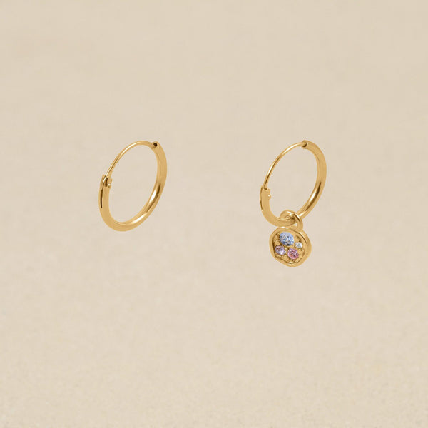 Belong Hoop Ohrringe Jewelry stilnest 24ct Gold Vermeil Farbe