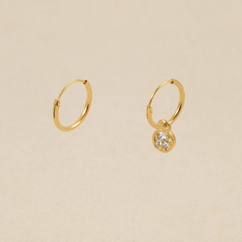Belong Hoop Ohrringe Jewelry stilnest 24ct Gold Vermeil Kristall