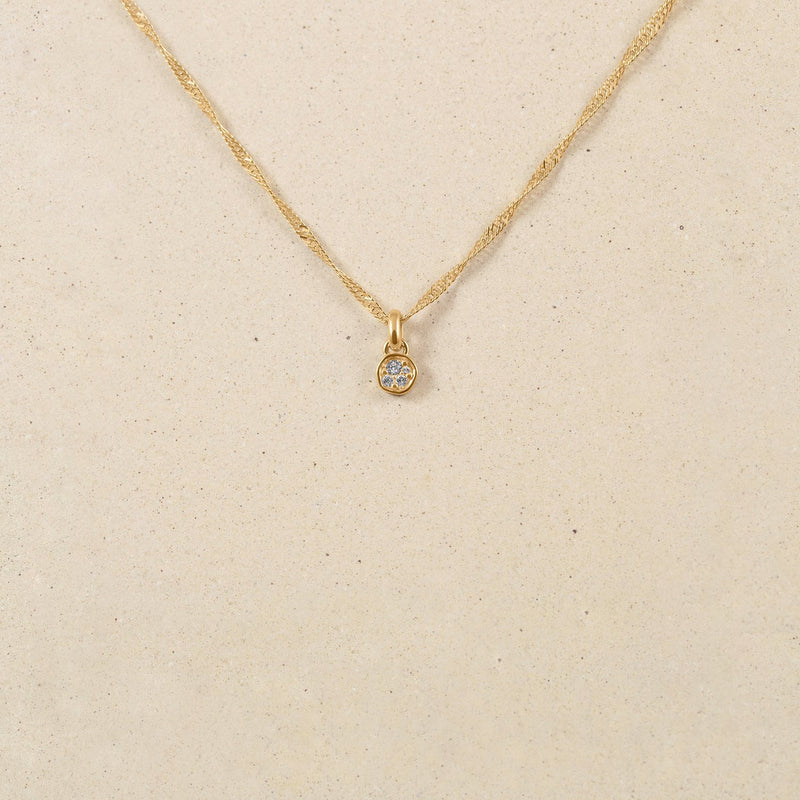 Belong Pavé Kette Jewelry stilnest 24ct Gold Vermeil Kristall
