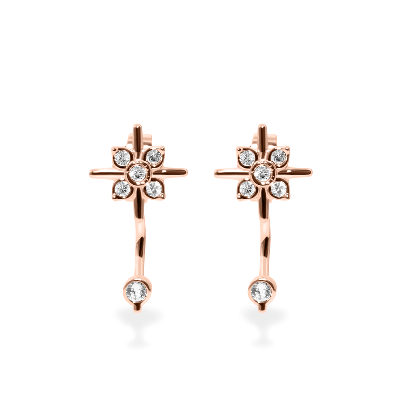 Bloom Ear Jacket Jewelry phiaka 925 Silver Rose Gold Plated