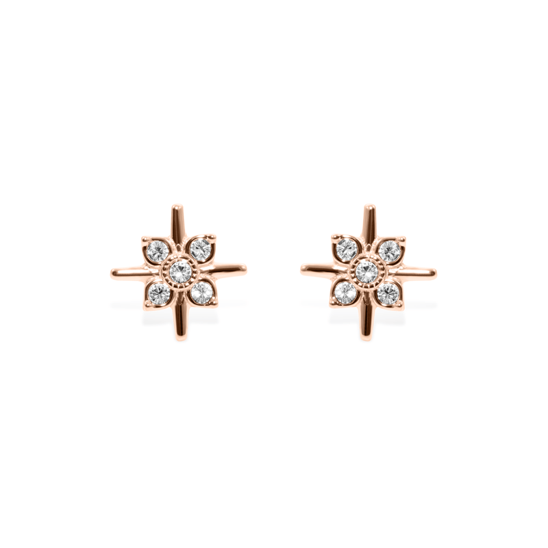 Bloom Ohrringe Jewelry phiaka 925 Silver Rose Gold Plated