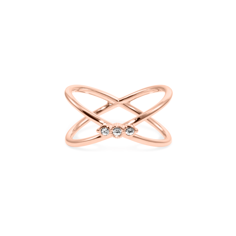 Bloom Ring Jewelry phiaka 925 Silver Rose Gold Plated XS - 49 (15.6mm)