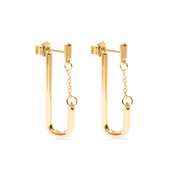 Bold Chained Ohrringe Jewelry stilnest 24ct Gold Vermeil