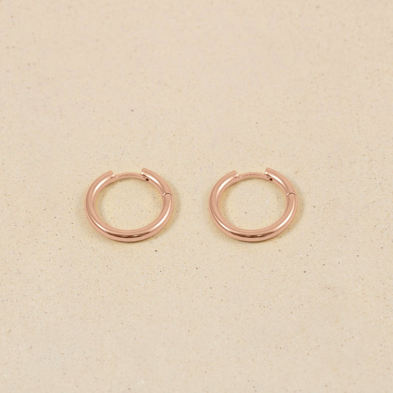 Bold Hoop Ohrringe Jewelry stilnest Rose Gold Vermeil