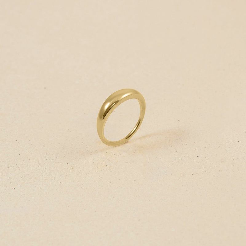 Bombé Bold Ring 14k Massivgold Jewelry stilnest XXS - 44 (14.01mm)