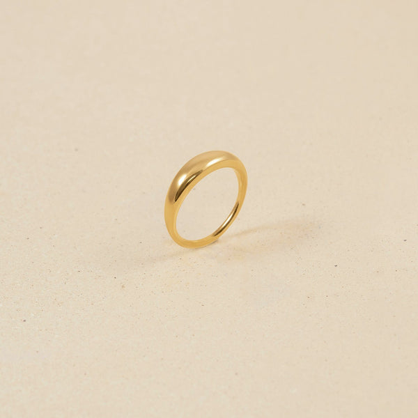Bombé Bold Ring Jewelry stilnest 24k Gold Vermeil L - 60 (19.1mm)