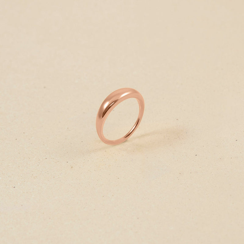 Bombé Bold Ring Jewelry stilnest Rose Gold Vermeil XXS - 44 (14.01mm)