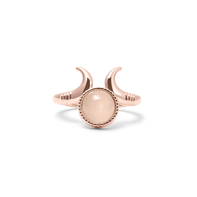 büffelhüfte mondstein hüftgold Ring Jewelry silvi-carlsson 925 Silver Rose Gold Plated S - 52 (16.6mm)