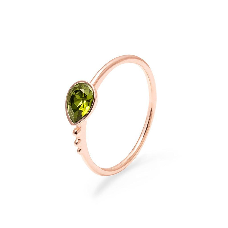 Buenaventura Ring Olivine Jewelry nilam-farooq 925 Silver Rose Gold Plated S - 52 (16.6mm)