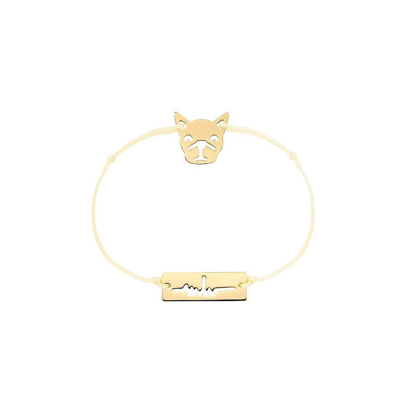 Bulldog Charm Jewelry marina-hoermanseder 925 Silver Gold Plated Beige