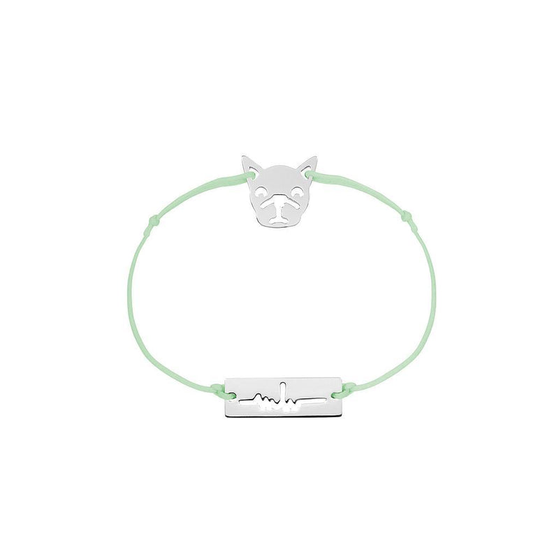 Bulldog Charm Jewelry marina-hoermanseder 925 Silver Pale Green