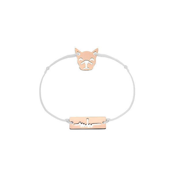 Bulldog Charm Jewelry marina-hoermanseder 925 Silver Rose Gold Plated Light Gray