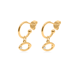 Cancer Hoop Jewelry luisa-lion 24ct Gold Vermeil Pair