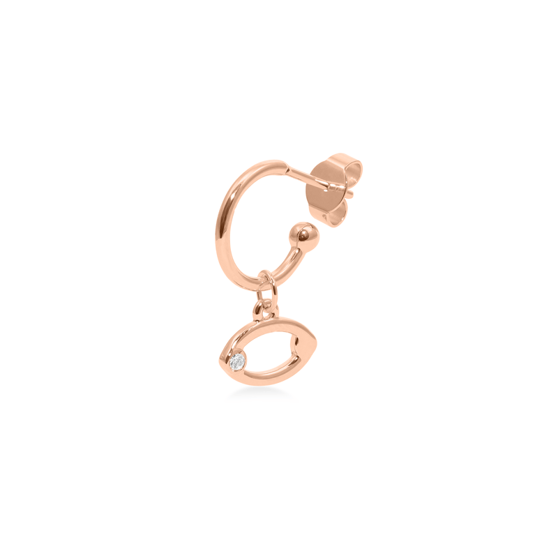 Cancer Hoop Jewelry luisa-lion Rose Gold Vermeil Single