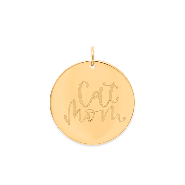 Cat Mom Anhänger #mommycollection Jewelry frau-hoelle 925 Silver Gold Plated