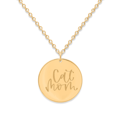 Cat Mom Kette #mommycollection Jewelry frau-hoelle 925 Silver Gold Plated S (45cm)