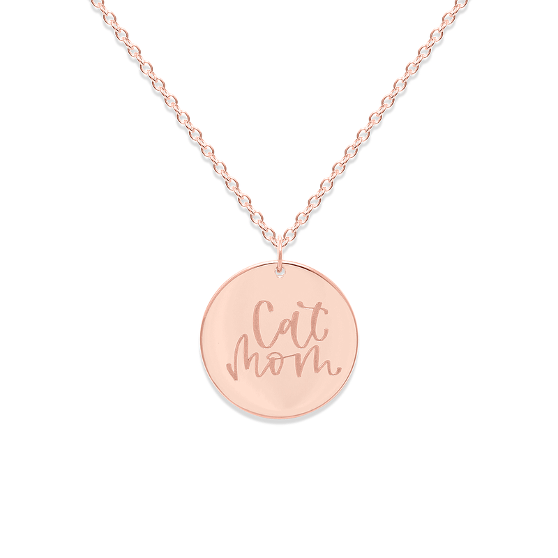 Cat Mom Kette #mommycollection Jewelry frau-hoelle 925 Silver Rose Gold Plated S (45cm)
