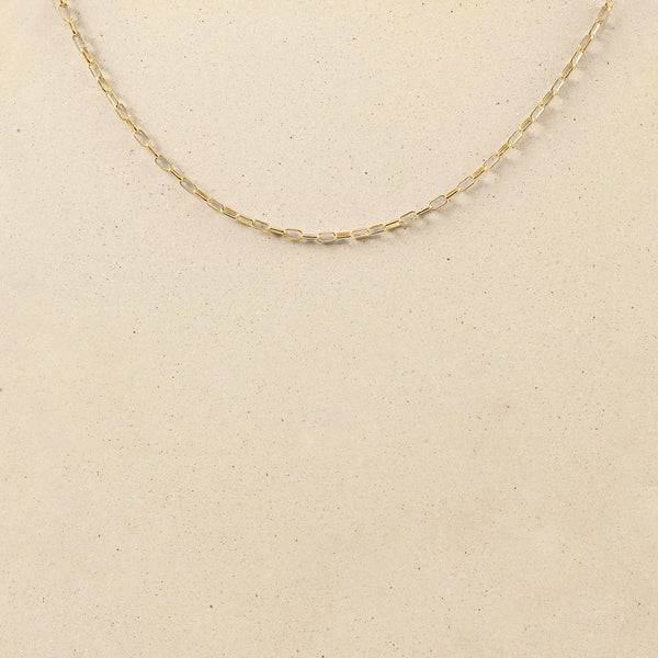 Catena Long Link Kette Jewelry stilnest 24ct Gold Vermeil 50 cm