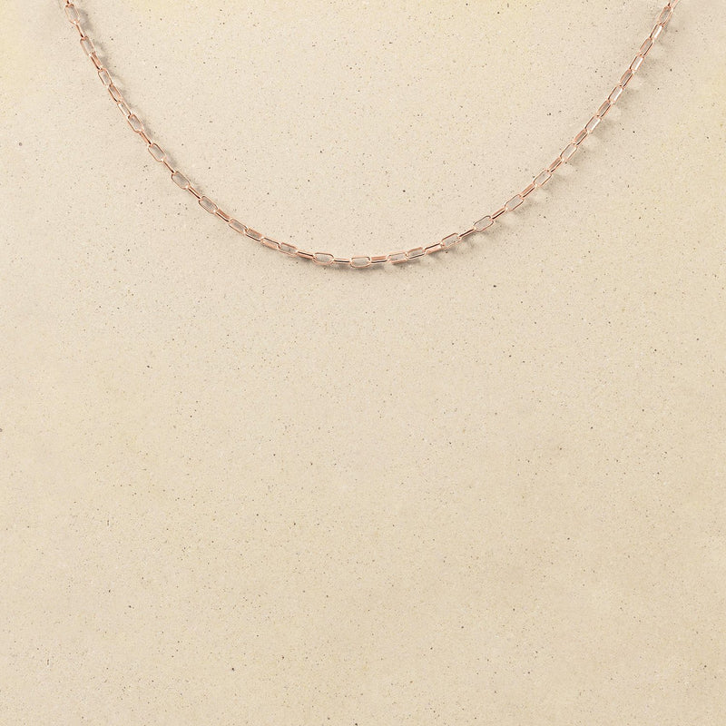 Catena Long Link Kette Jewelry stilnest Rose Gold Vermeil 50 cm