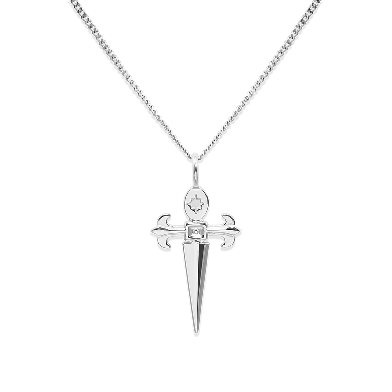 Conquer Dagger Kette Jewelry taylor-lashae Rhodium Plated 925 Silver S (45cm)