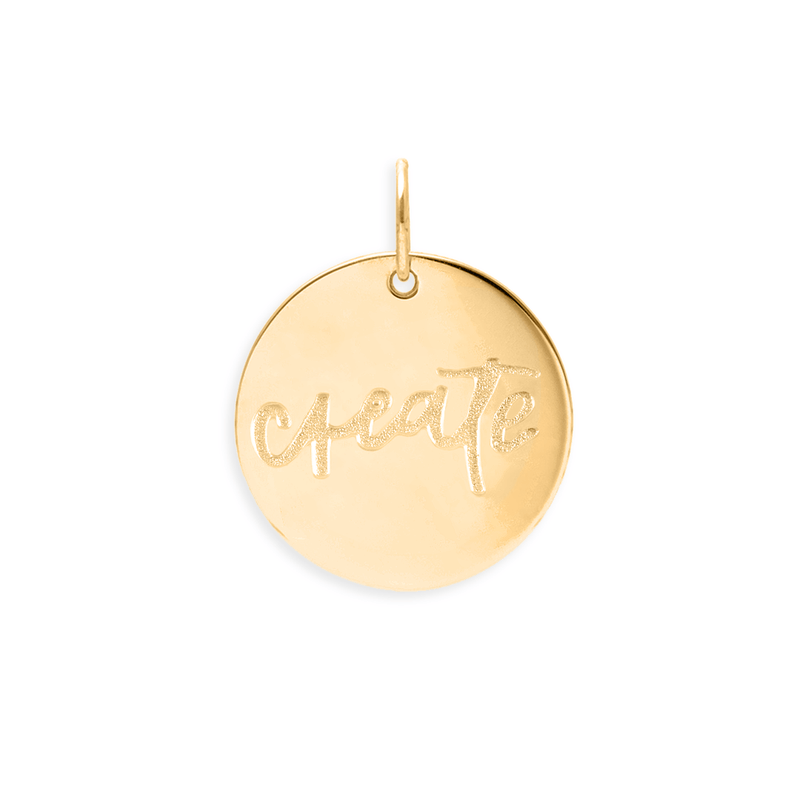 Create Anhänger #femboss Jewelry frau-hoelle 24ct Gold Vermeil