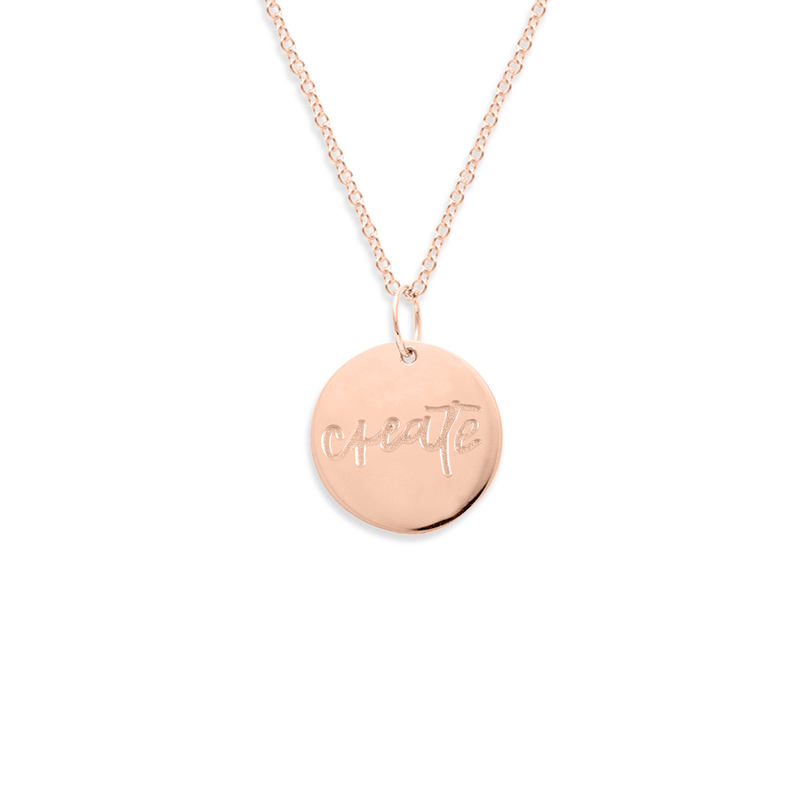 Create Kette #femboss Jewelry frau-hoelle Rose Gold Vermeil S (45cm)