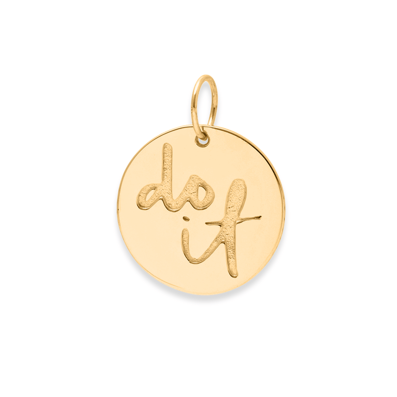 Do It Anhänger #femboss Jewelry frau-hoelle 925 Silver Gold Plated