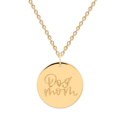 Dog Mom Kette #mommycollection Jewelry frau-hoelle 925 Silver Gold Plated S (45cm)