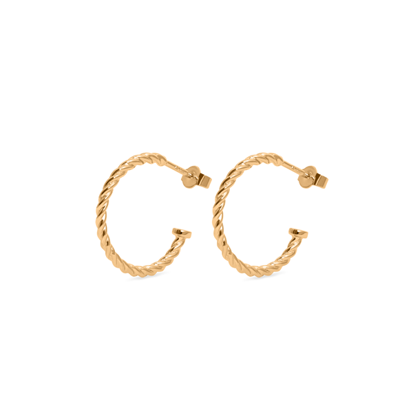 Dune Hoops (Paar) Jewelry useless 24ct Gold Vermeil