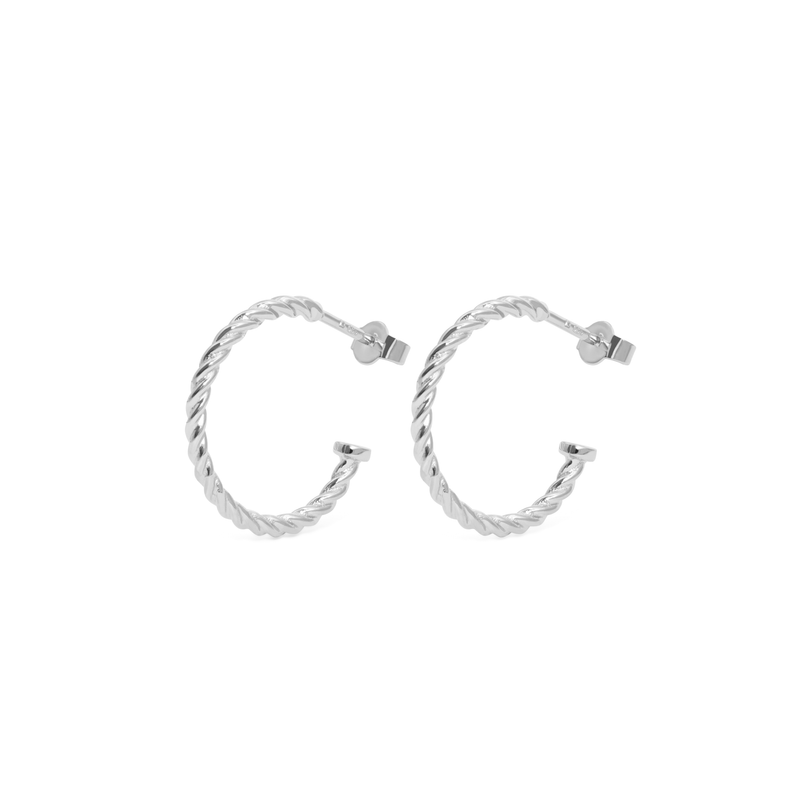 Dune Hoops (Paar) Jewelry useless 925 Silver