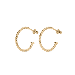 Dune Hoops (Paar) - Solid Gold Jewelry useless 14ct solid Gold