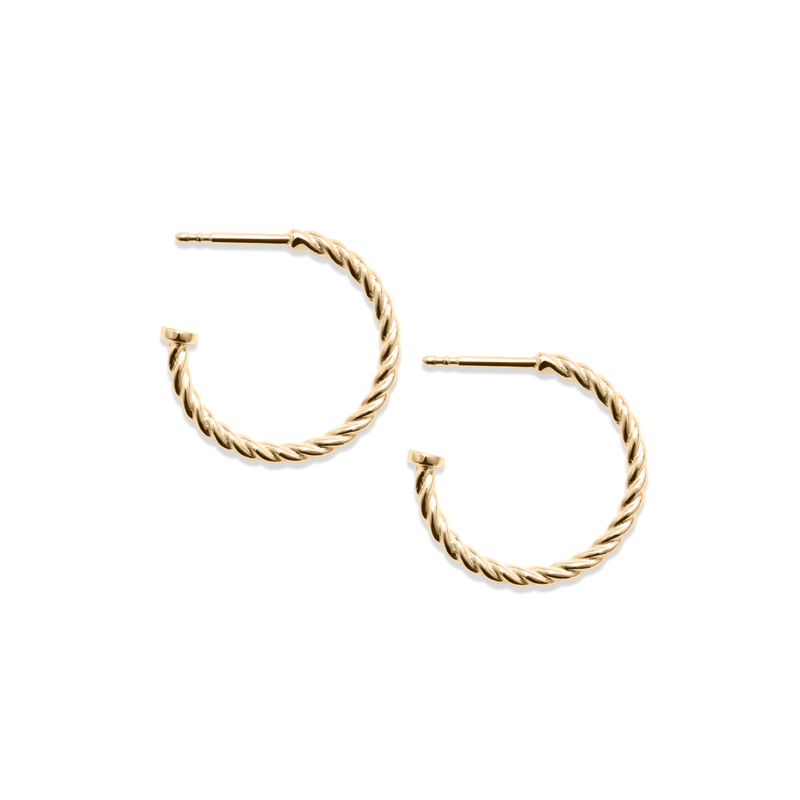 Dune Hoops (Paar) - Solid Gold Jewelry useless