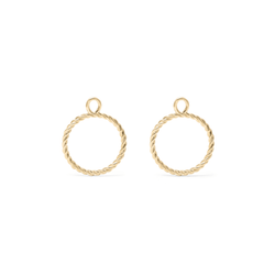 Dune Pendant Set (Pair) - Solid Gold Jewelry useless 14ct solid Gold