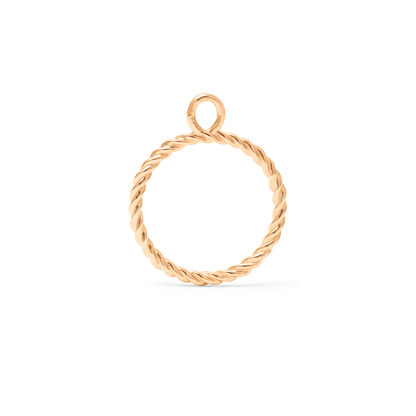 Dune Pendant - Solid Gold Jewelry useless 14ct solid Gold